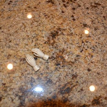 Antique carved ivory cufflinks - Accessories