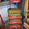 Coca Cola wooden crate rack.