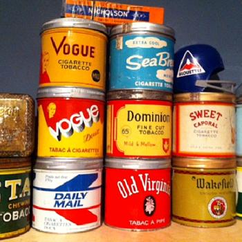 Tobacco tin collection so far