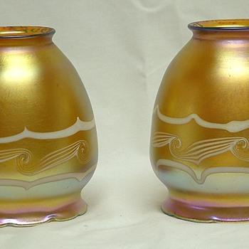 Quezal Gold lamp shades