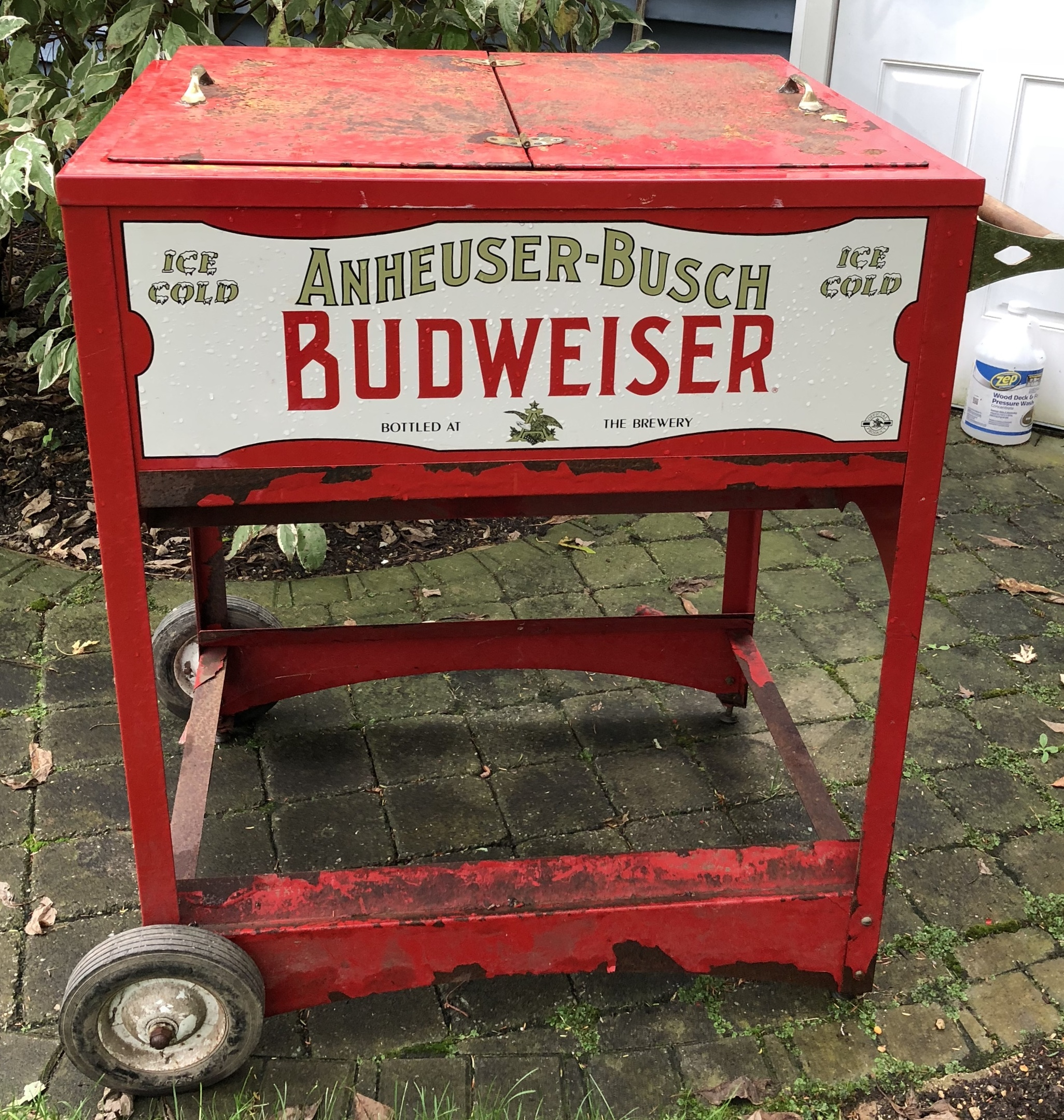 Anheuser Busch Budweiser Push Cart Ice Chest Collectors Weekly