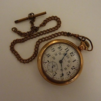 Elgin Pocket Watch with chain (original fob missing) - Pocket Watches