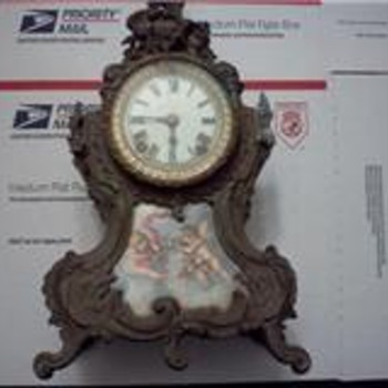 "ANSONIA ""TRIANON"" MANTEL CLOCK - Clocks"