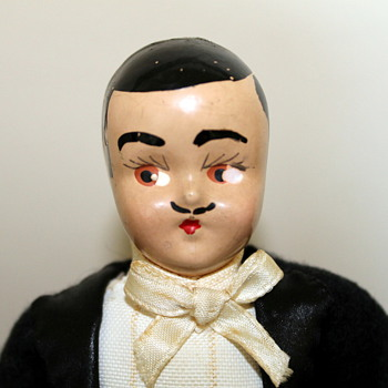 1940's composition groom? Rhett Butler? magician? doll
