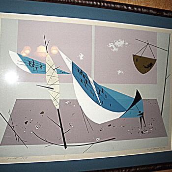 Charles Harper Blue Jay Serigraph - Fine Art