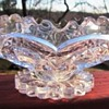 Imperial Glass Zippered Heart Double Handle Sugar