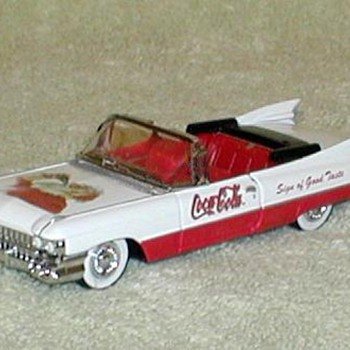 1959 Cadillac Convertible - Coca Cola  - Model Cars
