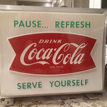 1950's Coca Cola light up - Coca-Cola