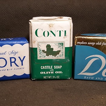 A Selection of Soap From the 1950s Ivory Conti and Dove - Advertising