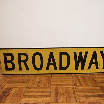 1960s New York Street Sign - Broadway - Signs
