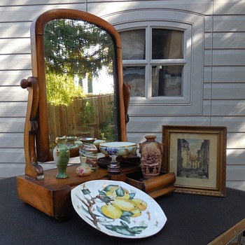 Antique Two Drawer Shaving Mirror and More! :^D - Furniture