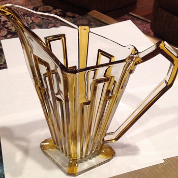 Art Deco Pitcher - Glassware