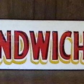 1940's Amusement Park Sandwich Sign - Signs