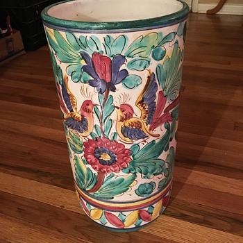 Vintage Ceramic Italian Umbrella Stand