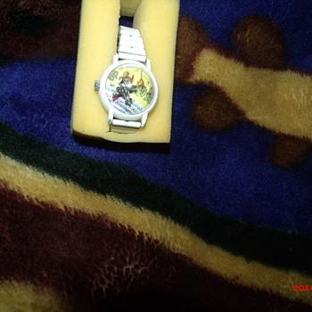 My little white enamel Timex wristwatch