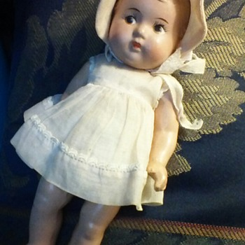 Composition, Madame Alexander Dionne Quintuplets Doll From The 1930's