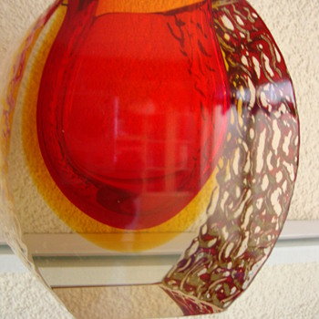 murano vase mid century modern - Art Glass