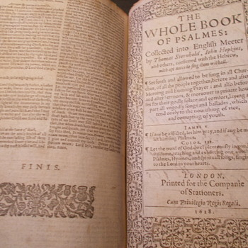 King James Bible 1618 - Books