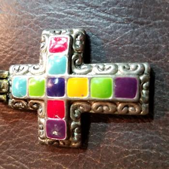 MJ multi colored cross