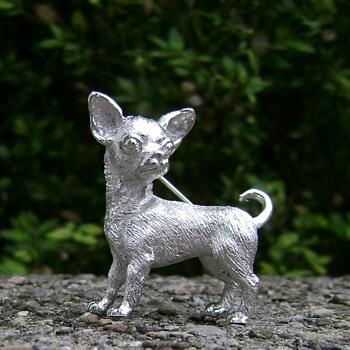 Crown Trifari Chihuahua Brooch - Animals
