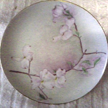 "L. Hutschenruether Selb 8"" Porcelain Plate / Hand Painted and Signed Floral Design/Bavaria, Germany/ Circa 1955 - China and Dinnerware"