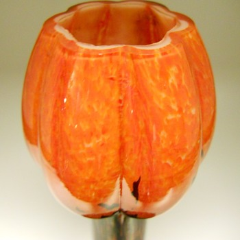 Welz Flowers shape vase,Circa 1930 - Art Glass