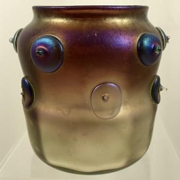 Loetz Vulcan Optisch vase, Arno Richter design for E. Bakalowits Söhne, ca. 1901 - Art Glass