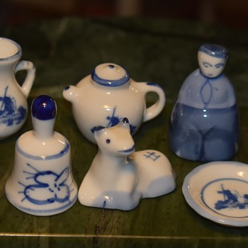 Tiny, little blue and white pottery - from here and there. - Pottery