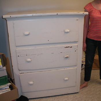 large wood dresser - Furniture