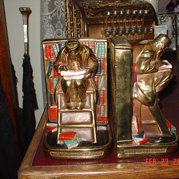 Grandfather's  Antique Bookends - Books