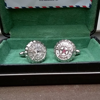 "Mystery Heineken Sterling Silver ""CHAIRMAN"" Cufflinks - Accessories"