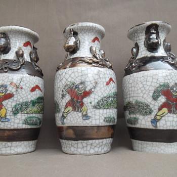 Chinese antique celadon vases