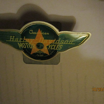 Harley Davidson paper clip - Medals Pins and Badges