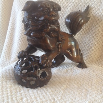 Bronze / Iron Foo Lion Dog Vintage Purchased in 1967 - Asian