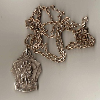 St. Christopher Medal with Chain - Fine Jewelry