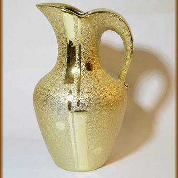 Another Weeping Gold Ceramic Pitcher - JAPAN - Pottery