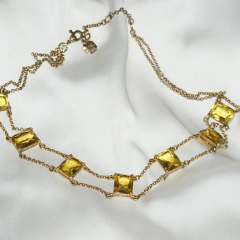 Vintage Monet Necklace and Cuff Bracelet - Costume Jewelry