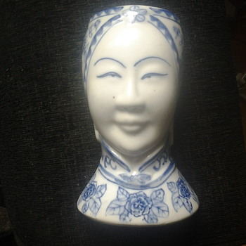 chinese blue wall mounted vase