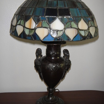 my old lamp, lower part should )e original, shade is reproduction