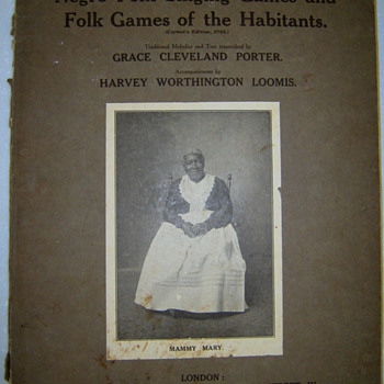 NEGRO FOLK SONGS & FOLK GAMES OF THE HABITANTS - Music Memorabilia