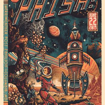Phish, 6/22/19, by Luke Martin - Music Memorabilia