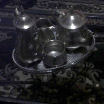 5 pce silver tea set - Silver