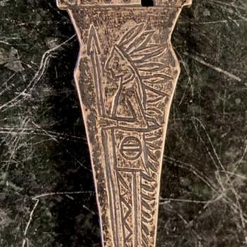 Old Native American Silver Spoon with Swastikas [Tetraskelion] - Advertising