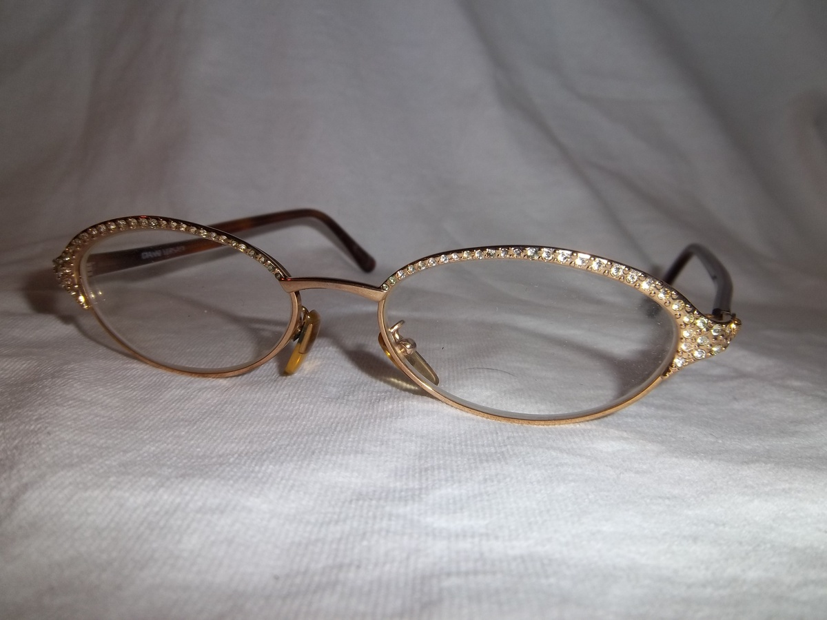 8a23d3e765d Vintage Gianna Versace glasses with Diamonds!