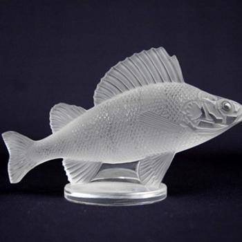 Lalique Perch Glass Fish - Art Glass