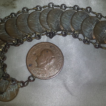 Vintage Coin bracelet from Mexico