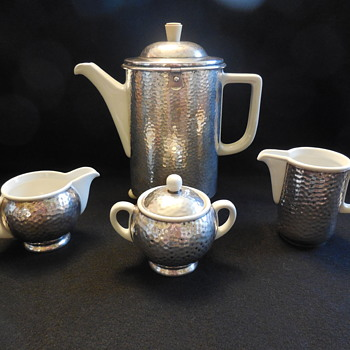 Art Deco Coffee Pot Set Bauscher Weiden Bavaria Germany - Kitchen