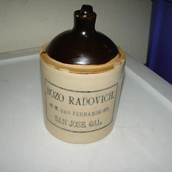 """7"""" bozo radovich jug - China and Dinnerware"""