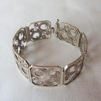 A New Favorite Silver 900 Czech Filigree Link Bracelets & Hallmarks. - Fine Jewelry