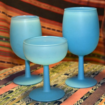 Blue Liquor Glasses - Carlo Moretti Satinato? - Kitchen